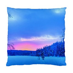Winter Landscape Snow Forest Trees Standard Cushion Case (two Sides) by Amaryn4rt