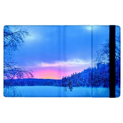Winter Landscape Snow Forest Trees Apple Ipad 3/4 Flip Case
