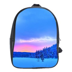 Winter Landscape Snow Forest Trees School Bags (xl)