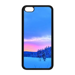 Winter Landscape Snow Forest Trees Apple Iphone 5c Seamless Case (black) by Amaryn4rt
