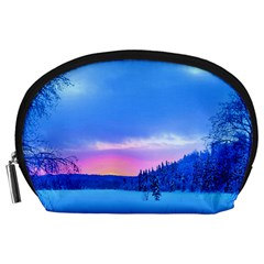 Winter Landscape Snow Forest Trees Accessory Pouches (large)  by Amaryn4rt