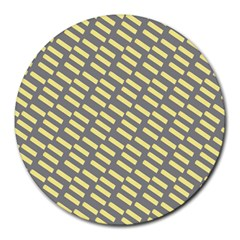 Yellow Washi Tape Tileable Round Mousepads