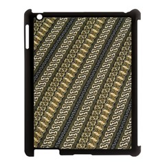 Batik Cap Parang Gendreh Kombinas Apple Ipad 3/4 Case (black)