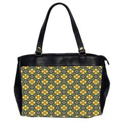 Arabesque Flower Yellow Office Handbags (2 Sides)