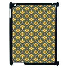 Arabesque Flower Yellow Apple Ipad 2 Case (black) by AnjaniArt