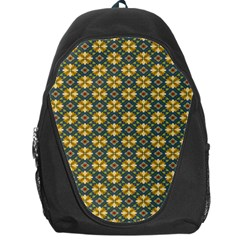 Arabesque Flower Yellow Backpack Bag