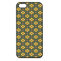 Arabesque Flower Yellow Apple Iphone 5 Seamless Case (black) by AnjaniArt