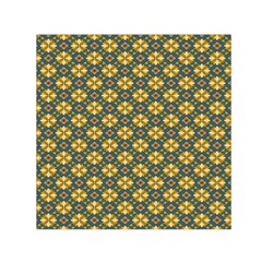 Arabesque Flower Yellow Small Satin Scarf (square) by AnjaniArt