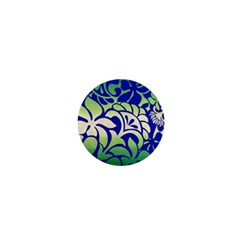 Batik Fabric Flower 1  Mini Buttons by AnjaniArt
