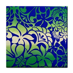 Batik Fabric Flower Face Towel