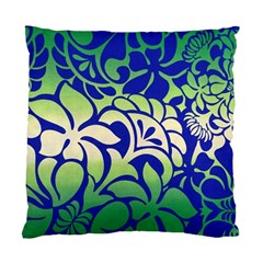 Batik Fabric Flower Standard Cushion Case (two Sides) by AnjaniArt