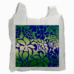 Batik Fabric Flower Recycle Bag (two Side)