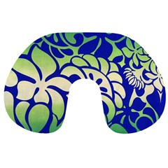 Batik Fabric Flower Travel Neck Pillows by AnjaniArt