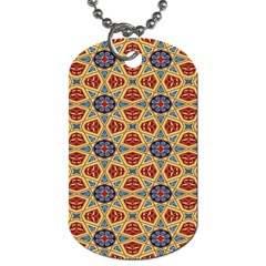 Arabesque Flower Dog Tag (two Sides) by AnjaniArt