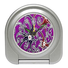 Batik Jogja Travel Alarm Clocks