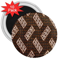 Batik Cap Truntum Kombinasi 3  Magnets (10 Pack)  by AnjaniArt