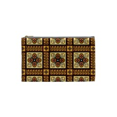 Batik Flower Brown Cosmetic Bag (small)