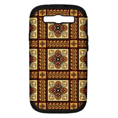 Batik Flower Brown Samsung Galaxy S Iii Hardshell Case (pc+silicone) by AnjaniArt