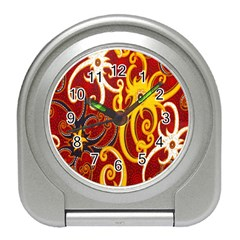 Batik Jogja Java Travel Alarm Clocks by AnjaniArt
