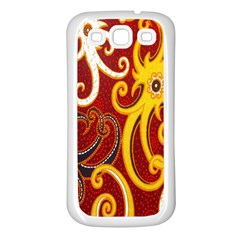 Batik Jogja Java Samsung Galaxy S3 Back Case (white)