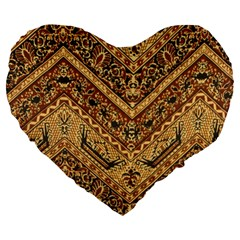 Batik Pekalongan Large 19  Premium Heart Shape Cushions by AnjaniArt