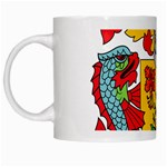 Barbados Coat of Arms White Mugs Left