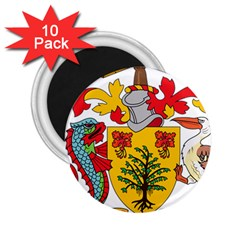 Barbados Coat Of Arms 2 25  Magnets (10 Pack)  by abbeyz71