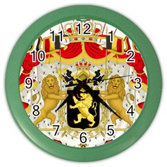Great Coat Of Arms Of Belgium Color Wall Clocks by abbeyz71