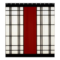 Shoji   Red Shower Curtain 66  X 72  (large)  by Tatami