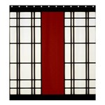 SHOJI - RED Shower Curtain 66  x 72  (Large)  58.75 x64.8 Curtain