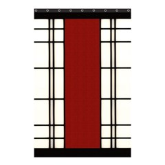 Shoji   Red Shower Curtain 48  X 72  (small)  by Tatami