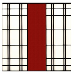 Shoji   Red Large Satin Scarf (square)