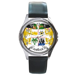 Coat Of Arms Of Benin Round Metal Watch by abbeyz71