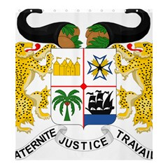 Coat Of Arms Of Benin Shower Curtain 66  X 72  (large)  by abbeyz71