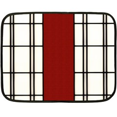 Shoji   Red Double Sided Fleece Blanket (mini)