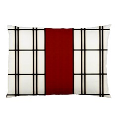 Shoji   Red Pillow Case (two Sides)