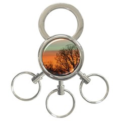 Twilight Sunset Sky Evening Clouds 3 Ring Key Chains