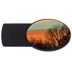 Twilight Sunset Sky Evening Clouds Usb Flash Drive Oval (4 Gb)