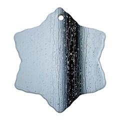 Rain Raindrop Drop Of Water Drip Snowflake Ornament (2 Side) by Amaryn4rt