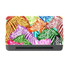 Zebra Colorful Abstract Collage Memory Card Reader With Cf