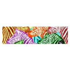 Zebra Colorful Abstract Collage Satin Scarf (oblong)