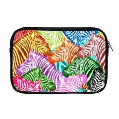 Zebra Colorful Abstract Collage Apple Macbook Pro 17  Zipper Case