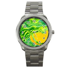 Zitro Abstract Sour Texture Food Sport Metal Watch by Amaryn4rt