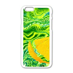 Zitro Abstract Sour Texture Food Apple Iphone 6/6s White Enamel Case by Amaryn4rt