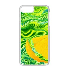Zitro Abstract Sour Texture Food Apple Iphone 7 Plus White Seamless Case by Amaryn4rt