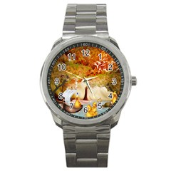 Art Kuecken Badespass Arrangemen Sport Metal Watch
