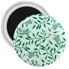 Leaves Foliage Green Wallpaper 3  Magnets