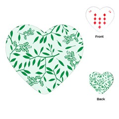 Leaves Foliage Green Wallpaper Playing Cards (heart)