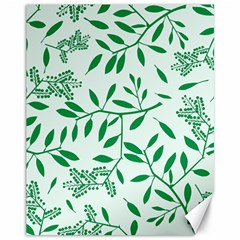 Leaves Foliage Green Wallpaper Canvas 11  X 14   by Amaryn4rt
