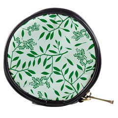 Leaves Foliage Green Wallpaper Mini Makeup Bags by Amaryn4rt